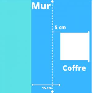 schéma d'un scellement pour coffre-fort